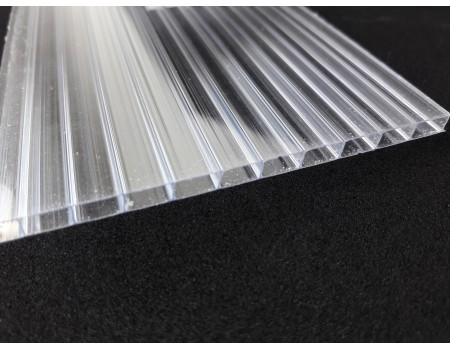 """Поликарбонат сотовый 4 мм прозрачный 2.1х12м """"Ug-standart-Plastic"""" New!!!"""