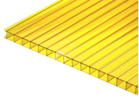 Поликарбонат сотовый желтый 10 мм  2100х6000 мм