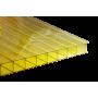 Поликарбонат сотовый желтый 10мм 2100х6000мм