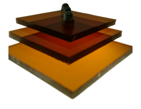 Поликарбонат монолитный коричневый (янтарь) 4мм 2050х3050мм