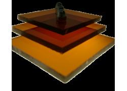 Поликарбонат монолитный коричневый (янтарь) 5мм 2050х3050мм
