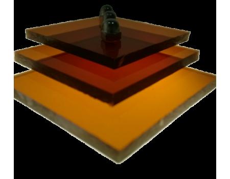 Поликарбонат монолитный коричневый (янтарь) 8мм 2050х3050мм