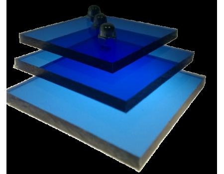 Поликарбонат монолитный синий 2мм 2050х3050мм