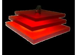 Поликарбонат монолитный красный 10мм 2050х3050мм