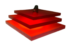 Поликарбонат монолитный красный 5мм 2050х3050мм