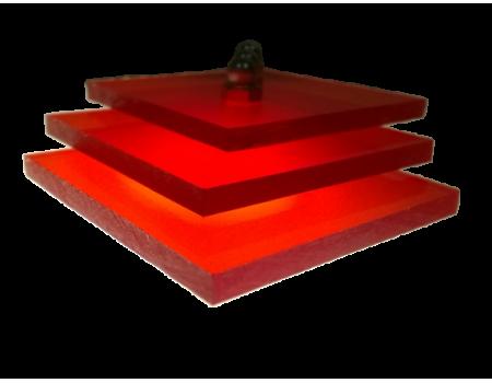 Поликарбонат монолитный красный 6мм 2050х3050мм