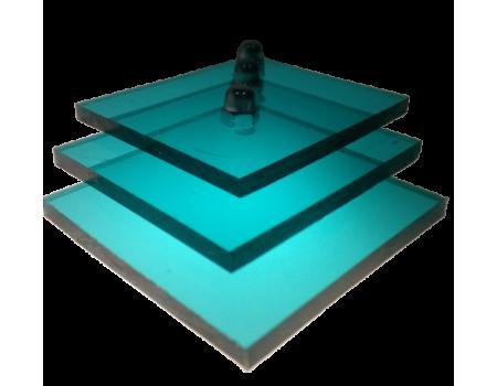 Поликарбонат монолитный бирюза 4мм 2050х3050мм