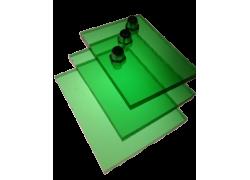 Поликарбонат монолитный зеленый 4мм 2050х3050мм