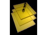 Поликарбонат монолитный желтый 3мм 2050х3050мм