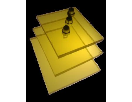 Поликарбонат монолитный желтый 4мм 2050х3050мм