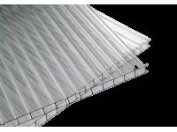 Поликарбонат сотовый 4мм прозрачный для теплиц  2.1*6м