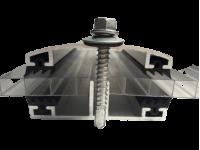 Алюминиевый соединительный профиль для поликарбоната