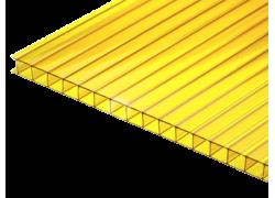 Поликарбонат сотовый желтый 4 мм 2100х6000 мм