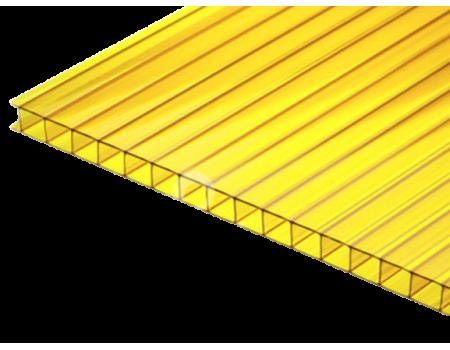 Поликарбонат сотовый желтый 4мм 2100х12000мм