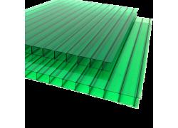 Поликарбонат сотовый зеленый 4мм 2100х6000 мм