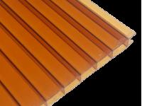 Поликарбонат сотовый коричневый (янтарь) 4мм 2100х6000 мм