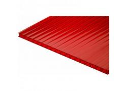 Поликарбонат сотовый красный  4 мм 2100х6000 мм