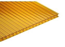 Поликарбонат сотовый оранжевый  4 мм  2100х12000 мм