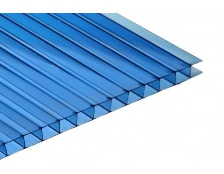 Поликарбонат сотовый синий 4мм 2100х6000 мм