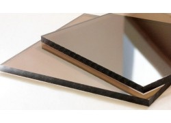 Монолитный поликарбонат 2мм бронзовый 1525*2050 мм