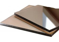 Поликарбонат монолитный 2мм бронзовый 2050*3050 мм