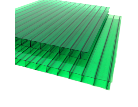Поликарбонат сотовый зеленый 6мм 2100х12000 мм
