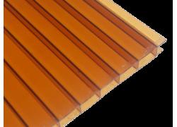 Поликарбонат сотовый коричневый (янтарь) 6мм 2100х6000 мм