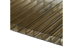Поликарбонат сотовый 8мм бронзовый 2100х12000мм