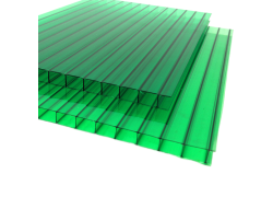 Поликарбонат сотовый зеленый 8мм 2100х12000 мм