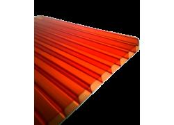 Поликарбонат сотовый красный  8 мм 2100х12000 мм