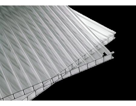 Поликарбонат сотовый прозрачный 8мм 2100х12000 мм