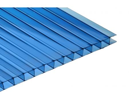 Поликарбонат сотовый синий 8мм 2100х12000 мм