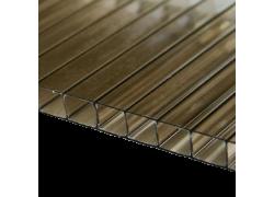 Поликарбонат сотовый бронзовый 10мм 2100х6000 мм