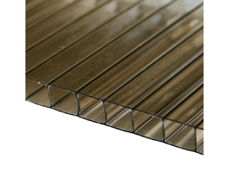 Поликарбонат сотовый бронзовый 10мм 2100х12000 мм