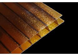 Поликарбонат сотовый Колотый лед бронза 8мм Royalplast 2100х6000 мм