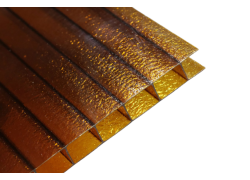 Поликарбонат сотовый Колотый лед бронза 8мм Royalplast 2100х12000 мм