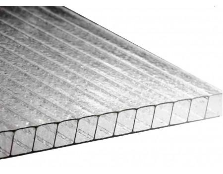 Поликарбонат сотовый Колотый лед прозрачный 8мм Royalplast 2100х6000 мм