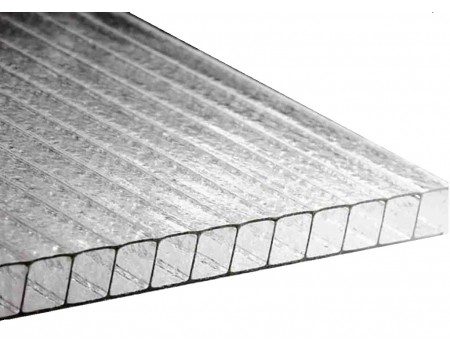 Поликарбонат сотовый Колотый лед прозрачный 10мм Carboglass 2100х12000 мм