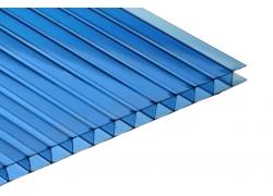 Поликарбонат сотовый синий 10мм 2100х12000 мм