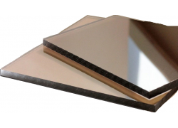 Поликарбонат монолитный бронзовый 5мм 1525х2050 мм