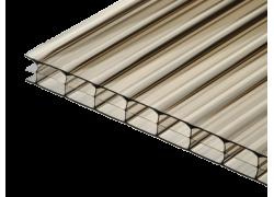 Поликарбонат сотовый бронзовый 16мм 2100х6000 мм