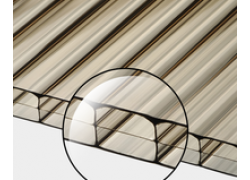 Поликарбонат сотовый бронзовый 16мм 2100х12000 мм