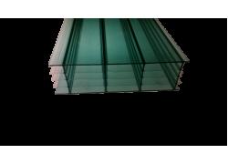 Поликарбонат сотовый зеленый 16мм 2100х6000 мм