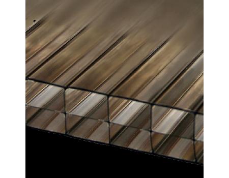Поликарбонат сотовый бронзовый 25мм 2100х6000 мм