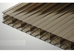 Поликарбонат сотовый бронзовый 25мм 2100х12000 мм