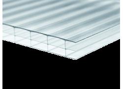 Поликарбонат сотовый прозрачный 25мм 2100х12000 мм