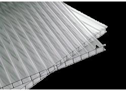 Поликарбонат сотовый 4мм прозрачный для теплиц  2.1*12м