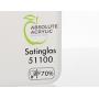 Оргстекло САТИН молочное-70% 4мм 2030*3050мм