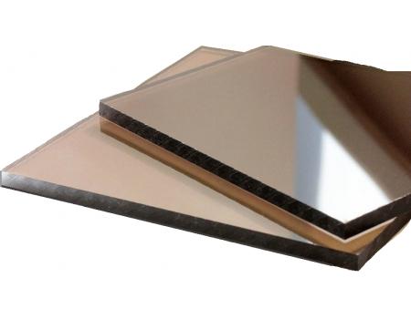 Поликарбонат монолитный 3мм бронзовый 1525*2050мм