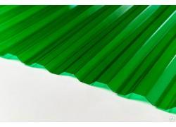 """Профилированный поликарбонат зеленый 0.8мм 1050x1000мм """"Borrex"""""""